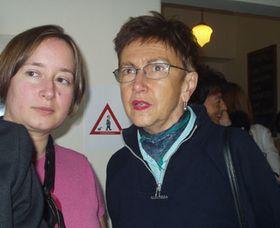 Linda Maštalířová (vlevo) aJiřina Šiklová, foto: Autor