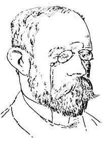 Ferdinand Blumentritt (Skizze von José Rizal, Wikimedia Commons, Public Domain)