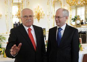 Herman Van Rompuy était attendu au Château de Prague pour s'entretenir avec le président de la République tchèque, Václav Klaus, photo: CTK