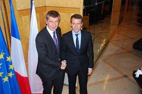 Andrej Babiš und Emmanuel Macron (Foto: Archiv des tschechischen Außenministeriums)