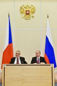 Милош Земан и Владимир Путин, Фото: ЧТК