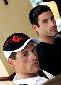 Jan Ullrich (left) and George Hincapie, photo: CTK