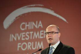 Премьер-министр Богуслав Соботка на Китайском инвестиционном форуме, Фото: ЧТК
