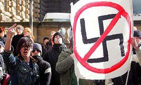The anti-fascist demonstrators, photo: CTK