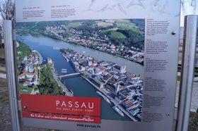 Passau liegt am Zusammenfluss der Flüsse Donau, Inn und Ilz (Foto: Archiv des Tschechischen Rundfunks - Radio Prag)