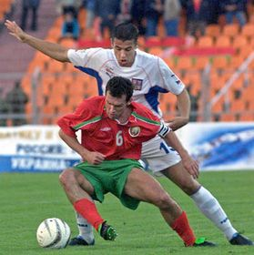 Czech Republic - Belarus, Milan Baros (right), photo: CTK