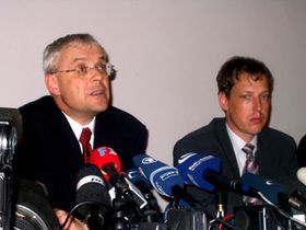 Vladimír Špidla et Stanislav Gross, photo: Archives de Radio Prague
