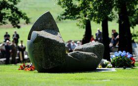Escultura conmemorativa en recuerdo de las víctimas de Lety, foto: ČTK