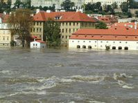 Prague's Lesser Quarter hit by floods