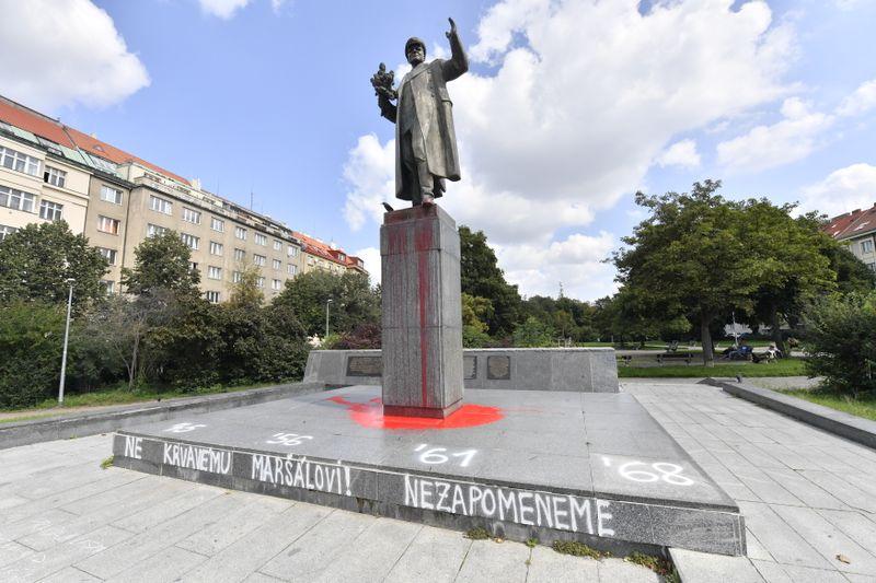 Памятник маршалу Ивану Коневу в Праге, фото: Вит Чиманек / ЧТК
