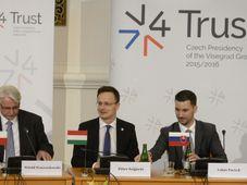 Встреча представителей Вышеградской группы в Праге, Фото: ЧТК