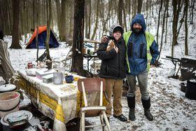 Una pareja sin techo en el bosque cerca de la ciudad de Ostrava, foto: ČTK