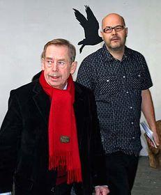Václav Havel (vlevo) aVladimír Morávek, foto: ČTK