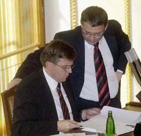 Miloslav Vlcek aVladimír Zaorálek, foto: ČTK