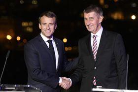 Emmanuel Macron avec Andrej Babiš, photo: ČTK/Deml Ondřej