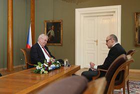 Президент Чехии Милош Земан и редактор «Радио Прага» Кирилл Щелков (Фото: архив Канцелярии президента Чешской Республики)
