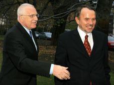 Вацлав Клаус и Петр Гайек (Фото: Эдуард Эрбен, ISIFA)