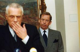 Václav Klaus, Václav Havel, photo: archive of Czech Radio