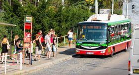 Un  bus électrique, photo: Dopravní podnik hlavního města Prahy
