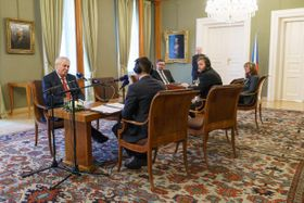 Интервью Милоша Земана Чешскому радио Plus, Фото: Халил Баалбаки, Чешское радио