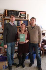Tři zautorů knihy orukopisech: Michal Fránek, Iva Krejčová aDalibor Dobiáš, foto: Martina Bílá