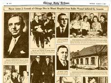 Страница, посвященная гибели Антонина Чермака в Chicago Tribune, Фото: Chicago Tribune