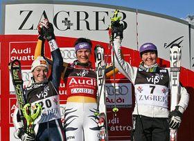 Nicole Gius, Maria Riesch, Šárka Záhrobská, photo: CTK