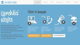 """Webseite der Initiative """"Uprchlíci vítejte"""""""