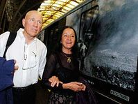 Sebastiao Salgado at the opening of the exhibition 'Workers', photo: CTK