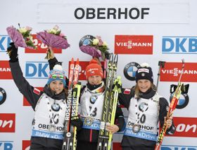 В конечном итоге Вероника Виткова опередила занявшую второе место Доротею Вирер на восемь секунд и третью Николь Гонтье (Фото: ЧТК)