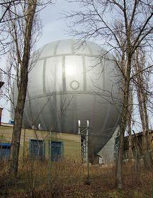 Libeň gasholder, photo: Petr Vilgus, Wikipedia