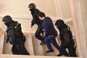 Полицейские приводят Кевина Далгрена в здание суда, Фото: ЧТК