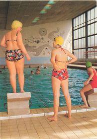 Городской бассейн. Открытка г. Гавиржов времен социализма