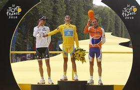 Andy Schleck, Alberto Contador, Denis Menchov, photo: CTK